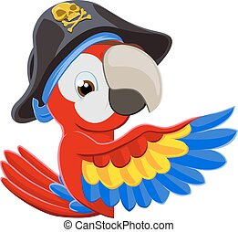 kika, tecknad film, papegoja, sjörövare