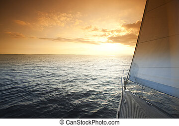 kilátás a tengerre, téma, telített, summertime idő, színes