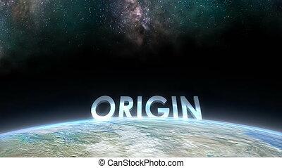 "kilátás, horizont, ""earth, origin."""