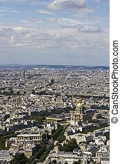 kilátás, montparnasse, antenna, párizs, franciaország