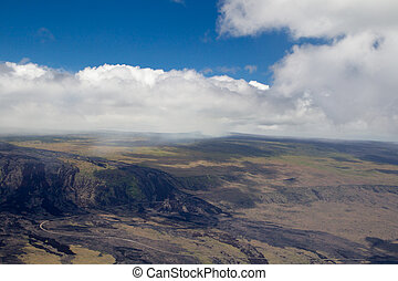 Kilauea, Big Island - Aerial shot of the crater of the...
