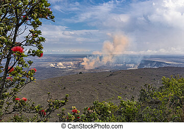 Kilauea Caldera Volcano on the Big Island Hawaii