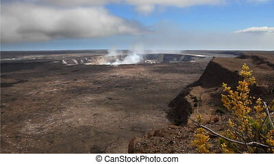 Kilauea Crater - Wide angle of the crater at Kilauea in...