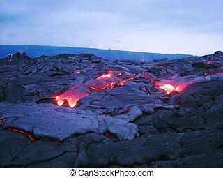 kilauea, lava