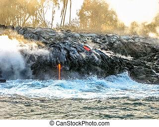 Kilauea lava eruption