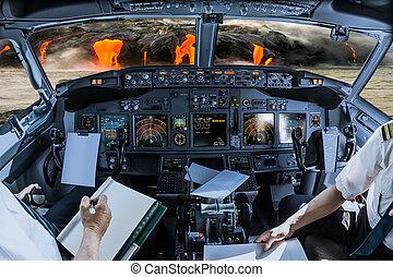 Kilauea Volcano cockpit