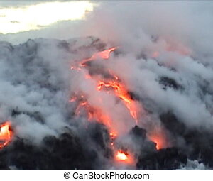 Kilauea Volcano Hawaii - Kilauea Volcano lava flow in Big...