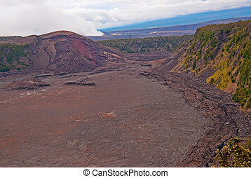 Kilauea Volcano on Big Island of Hawaii