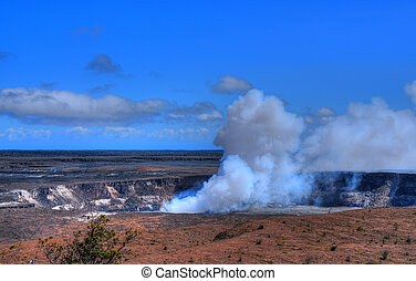 kilauea volcano on the big island of Hawaii