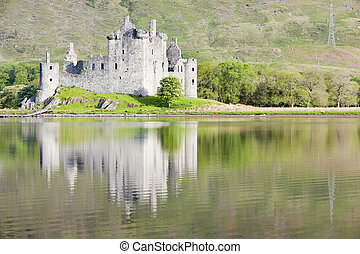 kilchurn, crainte, ecosse, loch, château