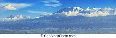kilimanjaro, aufstellen, in, afrikas