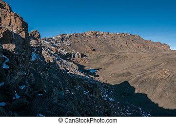kilimanjaro, binnen, krater