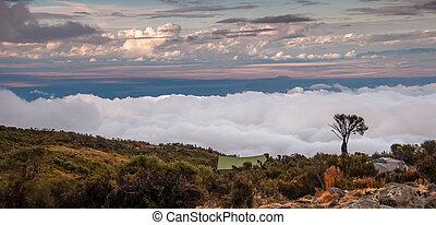 Kilimanjaro Camp Site at Dawn