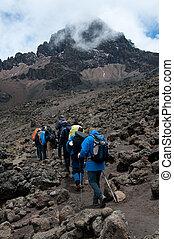 kilimanjaro, trekkers