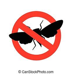 Kill Cicada Insect Sign Vector Illustration