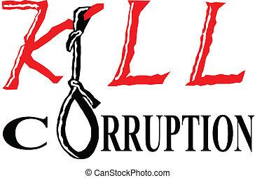 kill corruption - it is a slogan against corruption.