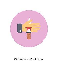 kill flat color icon