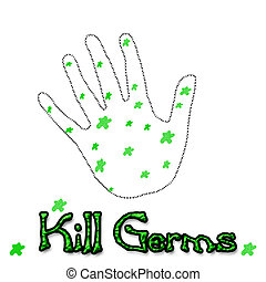 kill germs illustration