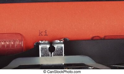 kill me - Typed on a old vintage typewriter. Printed on red...