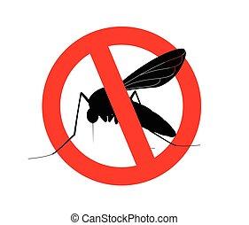 Kill Mosquitoes Symbol Vector Illustration