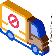 Kill Truck isometric icon vector illustration