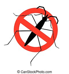 Kill Water Strider Insect Sign Vector Illustration