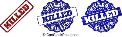 KILLED Scratched Stamp Seals
