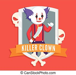 killer clown logo