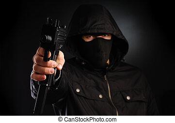 killer - Portrait of armored man