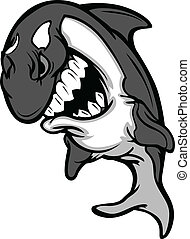 Killer Whale Mascot Cartoon - Cartoon Image of a Killer...