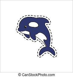 Killer whale. Vector illustration.