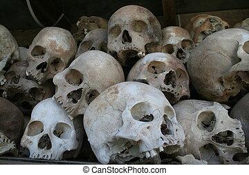 Killing Fields Skull - Many of the skulls at the infamous...