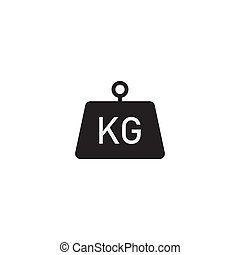 Kilogram vector icon flat style isolated on white background