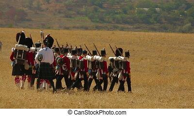 Kilties at a battle