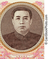Kim II Sung (1912-1994) on 100 Won 1978 Banknote from North Korea. Communist politician and leader of North Korea during 1948-1994.