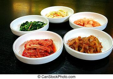 kimchi, ciotole
