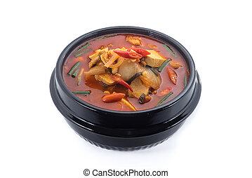 kimchi stew, kimchi chigae, korean cuisine, kimchi soup...