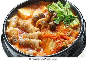 kimchi stew, kimchi chigae