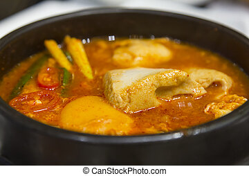 Kimchi stew with tofu korean cuisine