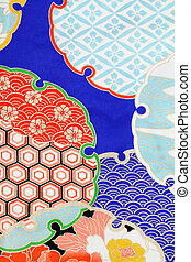 kimono fabric - Close up of kimono fabric, texture...