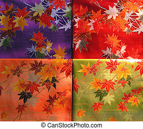A very colorful stuff texture, produced by the kimono material.
