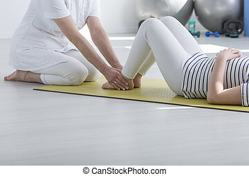 kinésithérapeute, patient, exercisme