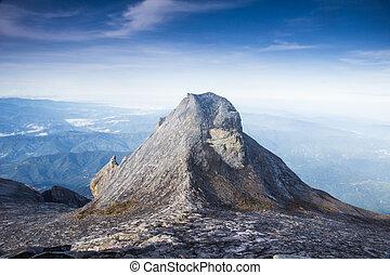Kinabalu Mt. - Tourist hinking down Kinabalu mountain in...