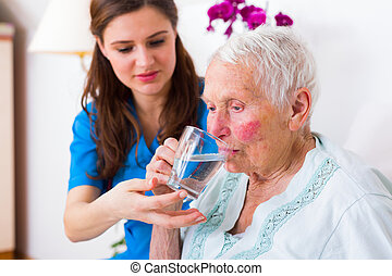 Kind Caregiver Helping