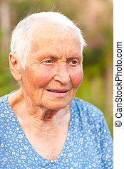 Kind elderly lady