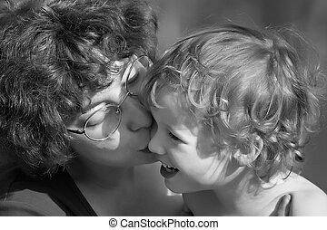 kind, en, moeder
