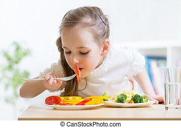 kind essen, gesundes essen, hause