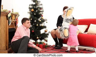 kind, eva, kerstmis