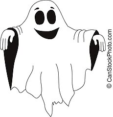 Kind halloween ghost white