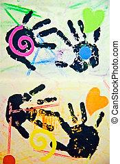 kind, het kunstwerk